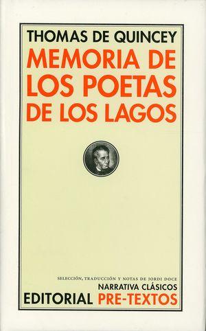 Memoria de los poetas de los lagos / pd.
