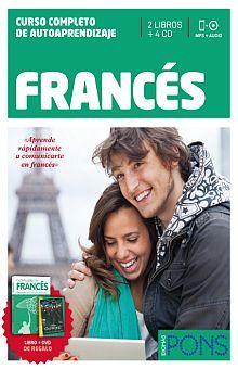 FRANCES CURSO COMPLETO DE AUTOAPRENDIZAJE PONS (INCLUYE 3 LIBROS + 4 CD + 1 DVD)