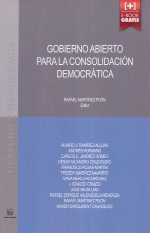 GOBIERNO ABIERTO PARA LA CONSOLIDACION DEMOCRATICA (INCLUYE ACCESO A E-BOOK)