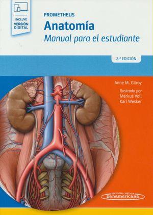 Prometheus. Anatomía. Manual para el estudiante / 2 Ed. (Incluye versión digital)