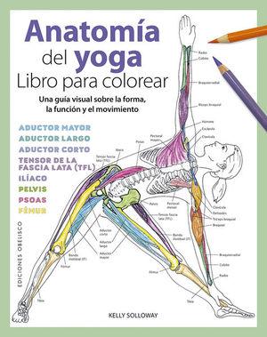 Anatomía del yoga. Libro para colorear