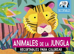 ANIMALES DE LA JUNGLA RECORTABLES PARA COLOREAR / PD.