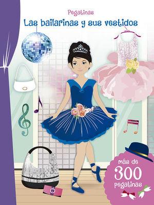 Pegatinas. Las bailarinas y sus vestidos