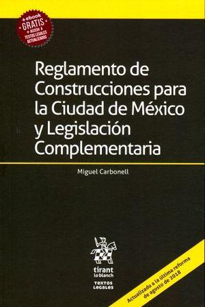 REGLAMENTO DE CONSTRUCCIONES PARA LA CIUDAD DE MEXICO Y LEGISLACION COMPLEMENTARIA (+EBOOK)