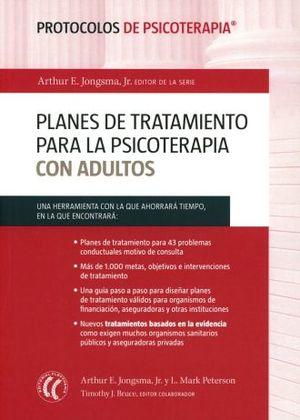 PLANES DE TRATAMIENTO PARA LA PSICOTERAPIA CON ADULTOS