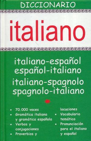 DICCIONARIO ITALIANO. ITALIANO - ESPAÑOL / ESPAÑOL - ITALIANO / PD.