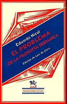 PROBLEMA DE LA FILOSOFIA HISPANA, EL