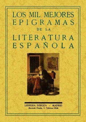Los mil mejores epigramas de la literatura española