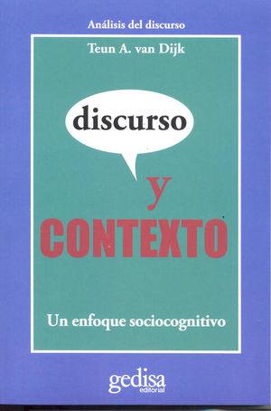 DISCURSO Y CONTEXTO. UN ENFOQUE SOCIOCOGNITIVO
