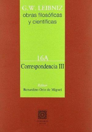 CORRESPONDENCIA 3 / OBRAS FILOSOFICAS Y CIENTIFICAS 16A / PD.
