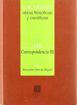 CORRESPONDENCIAS 3 / OBRAS FILOSOFICAS Y CIENTIFICAS 16B / PD.