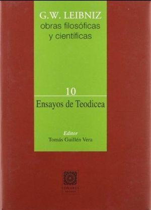 ENSAYOS DE TEODICEA / OBRAS FILOSOFICAS 10 / PD.