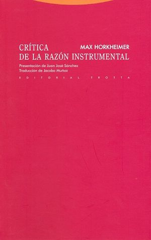 CRITICA DE LA RAZON INSTRUMENTAL