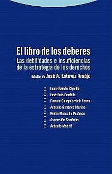 LIBRO DE LOS DEBERES, EL. LAS DEBILIDADES E INSUFICIENCIAS DE LA ESTRATEGIA DE LOS DERECHOS