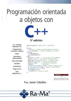 PROGRAMACION ORIENTADA A OBJETOS CON C++ / 5 ED.