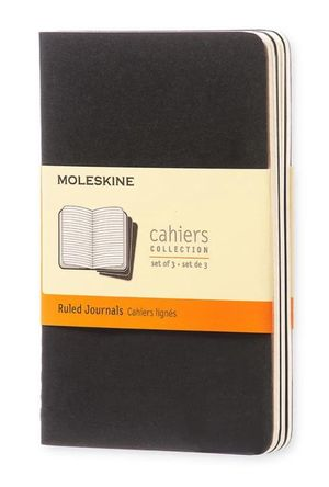 SET 3 CAHIER P RULED BLACK COVER / MOLESKINE