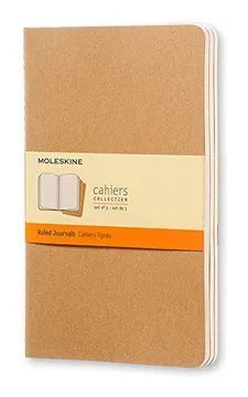 SET 3 CAHIER L RULED KRAFT COVER / MOLESKINE