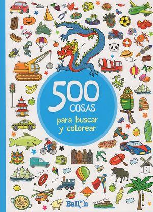 500 cosas para buscar y colorear (Azul)