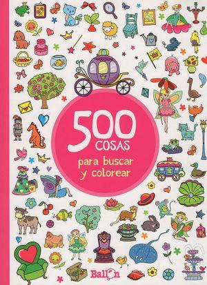 500 cosas para buscar y colorear (Rojo)