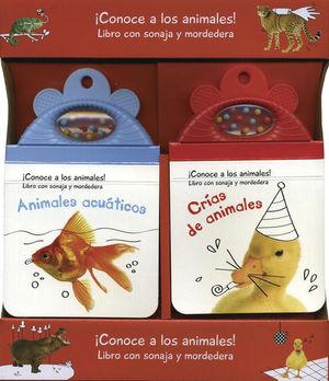 PAQ.ANIMALES ACUATICOS + CRIAS DE ANIMALES / PD. (LIBROS CON SONAJA Y MORDEDERA)