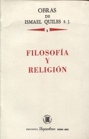 FILOSOFIA Y RELIGION / VOL 4