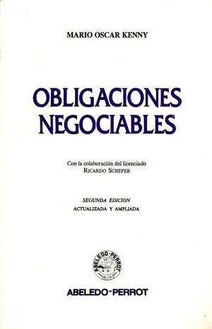 OBLIGACIONES NEGOCIABLES / 2 ED.