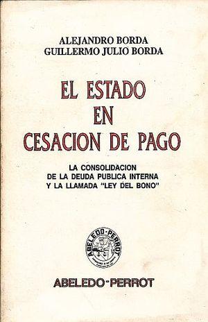ESTADO EN CESACION DE PAGO, EL