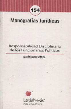 RESPONSABILIDAD DISCIPLINARIA DE LOS FUNCIONARIOS POLITICOS