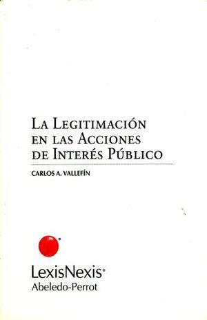 LEGITIMACION EN LAS ACCIONES DE INTERES PUBLICO
