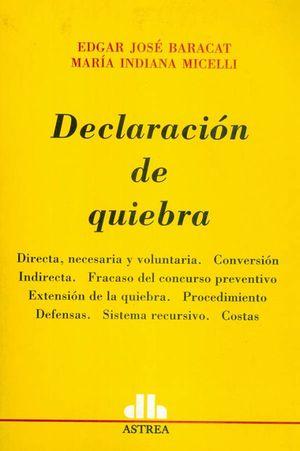 Declaración de quiebra