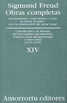OBRAS COMPLETAS / SIGMUND FREUD / TOMO XIV. CONTRIBUCION A LA HISTORIA DEL MOVIMIENTO PSICOANALITICO... Y OTRAS OBRAS (1914-1916)