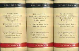 DERECHO INTERNACIONAL PUBLICO Y PRIVADO Y DERECHO DEL MERCOSUR / 3 TOMOS / PD.