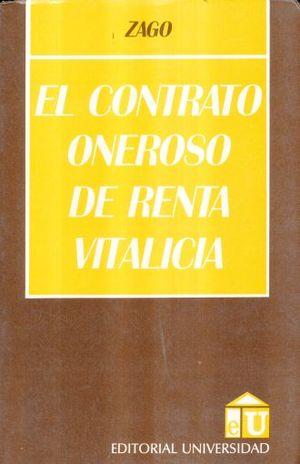 CONTRATO ONEROSO DE RENTA VITALICIA, EL