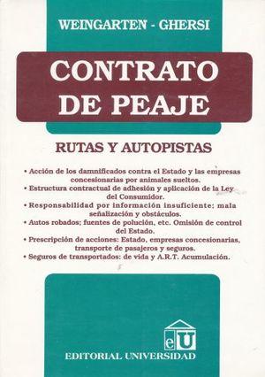 CONTRATO DE PEAJE. RUTAS Y AUTOPISTAS