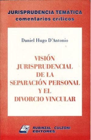 VISION JURISPRUDENCIAL DE LA SEPARACION PERSONAL