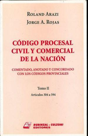 CODIGO PROCESAL CIVIL Y COMERCIAL DE LA NACION. TOMO II