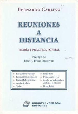 REUNIONES A DISTANCIA. TEORIA Y PRACTICA FORMAL
