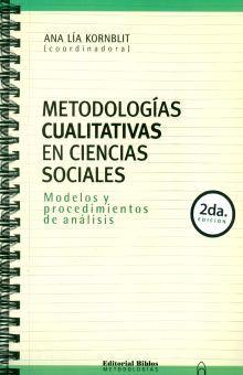 METODOLOGIAS CUALITATIVAS EN CIENCIAS SOCIALES / 2 ED.