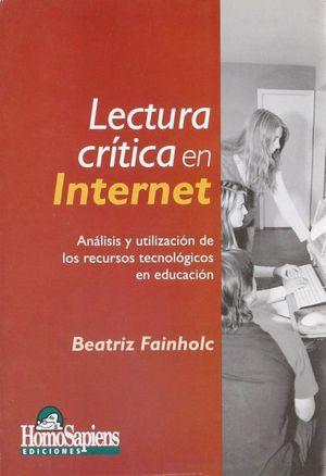 Lectura crítica en internet. Análisis y utilización de los recursos tecnológicos
