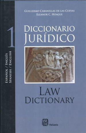 DICCIONARIO JURIDICO INGLES ESPAÑOL / ESPAÑOL INGLES / 2 TOMOS /  PD.