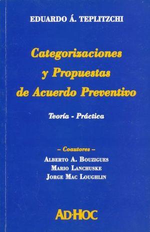 CATEGORIZACIONES Y PROPUESTAS DE ACUERDO PREVENTIVO