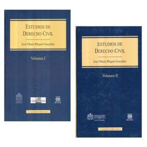 ESTUDIOS DE DERECHO CIVIL / 2 VOLS. / PD.