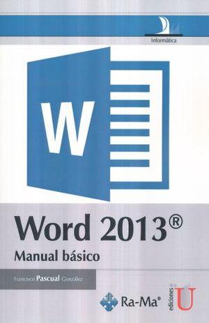 WORD 2013. MANUAL BASICO