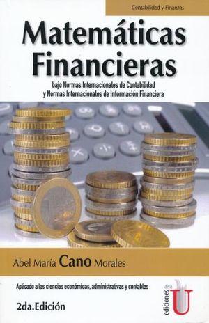 MATEMATICAS FINANCIERAS BAJO NORMAS INTERNACIONALES DE CONTABILIDAD Y NORMAS INTERNACIONALES DE INFORMACION FINANCIERA