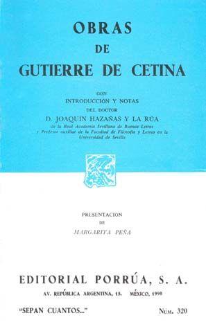 # 320. OBRAS / GUTIERRE DE CETINA