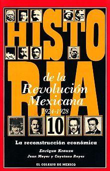 HISTORIA DE LA REVOLUCION MEXICANA 1924-1928. LA RECONSTRUCCION ECONOMICA / VOL. 10