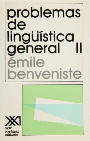 PROBLEMAS DE LINGUISTICA GENERAL II
