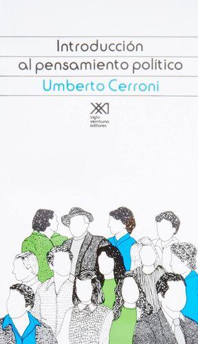 INTRODUCCION AL PENSAMIENTO POLITICO