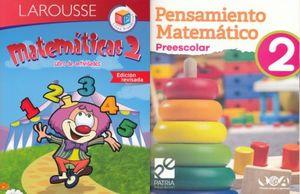 PAQ. MATEMATICAS 2 (LIBRO DE ACTIVIDADES / PENSAMIENTO MATEMATICO PREESCOLAR 2