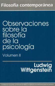 OBSERVACIONES SOBRE LA FILOSOFIA DE LA PSICOLOGIA / VOL. II / 2 ED.